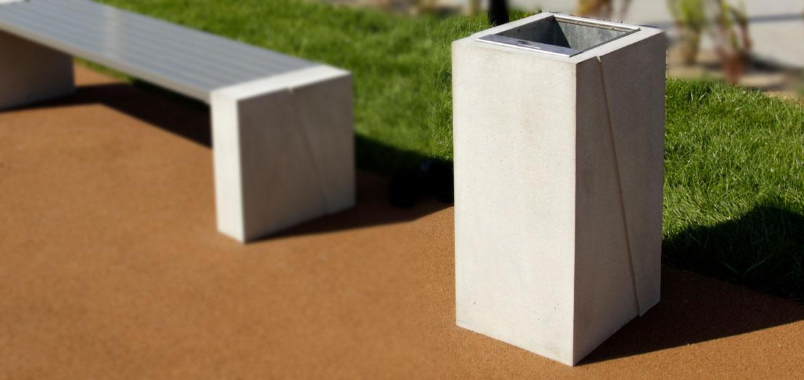 kosze uliczne z betonu architektonicznego